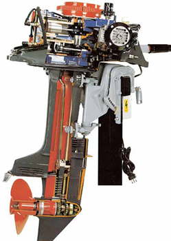 4 stroke marine outboard engine cutaway for Outboard motor repair training online