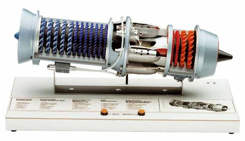 Turbo Jet Engine Model Cutaway